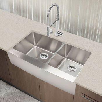 Beautiful Costco: Hahn™ Chef Series Handmade Extra Large 60/40 Farmhouse Sink