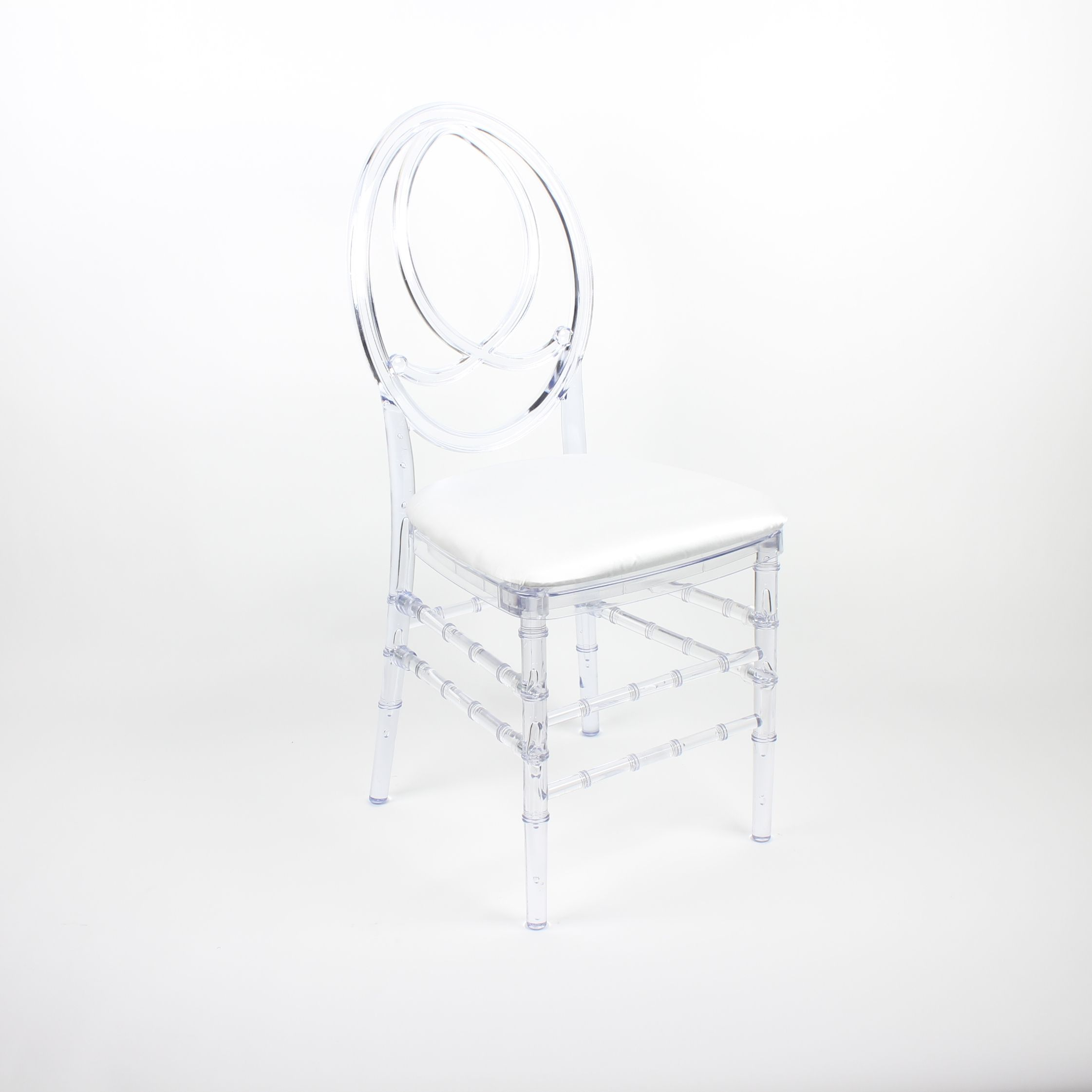 Super Clear Infinity Chair With Satin White Seat Pad Infinity Lamtechconsult Wood Chair Design Ideas Lamtechconsultcom
