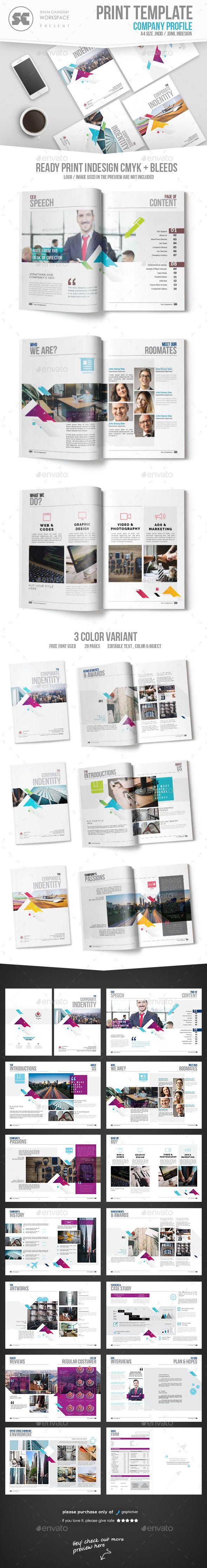 Company Profile | Diseño editorial, Editorial y Folletos