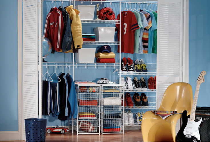 wire closet shelving kids
