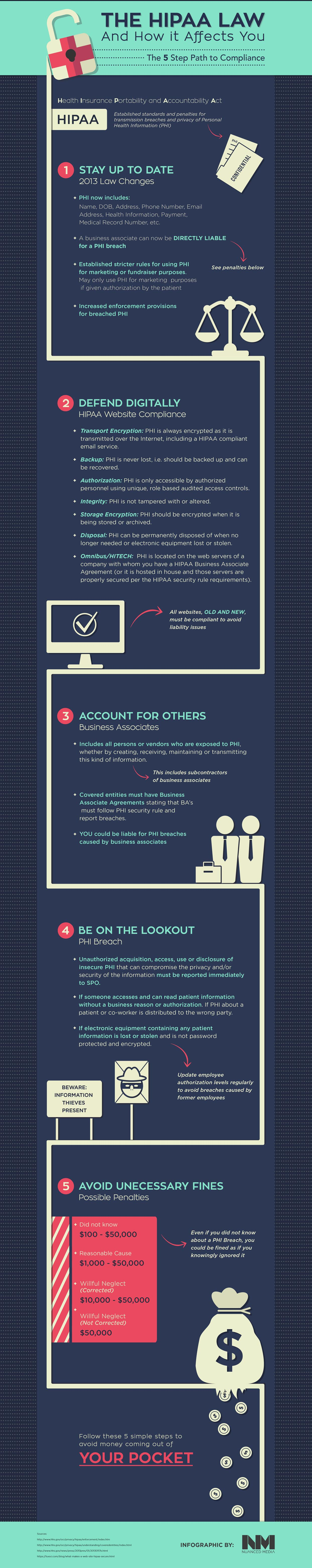 Hipaa Law How It Effects You Medical Websites Infographic