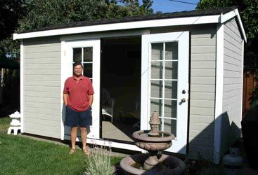 Converting sheds into livable space miniature homes and for Shed into pool house