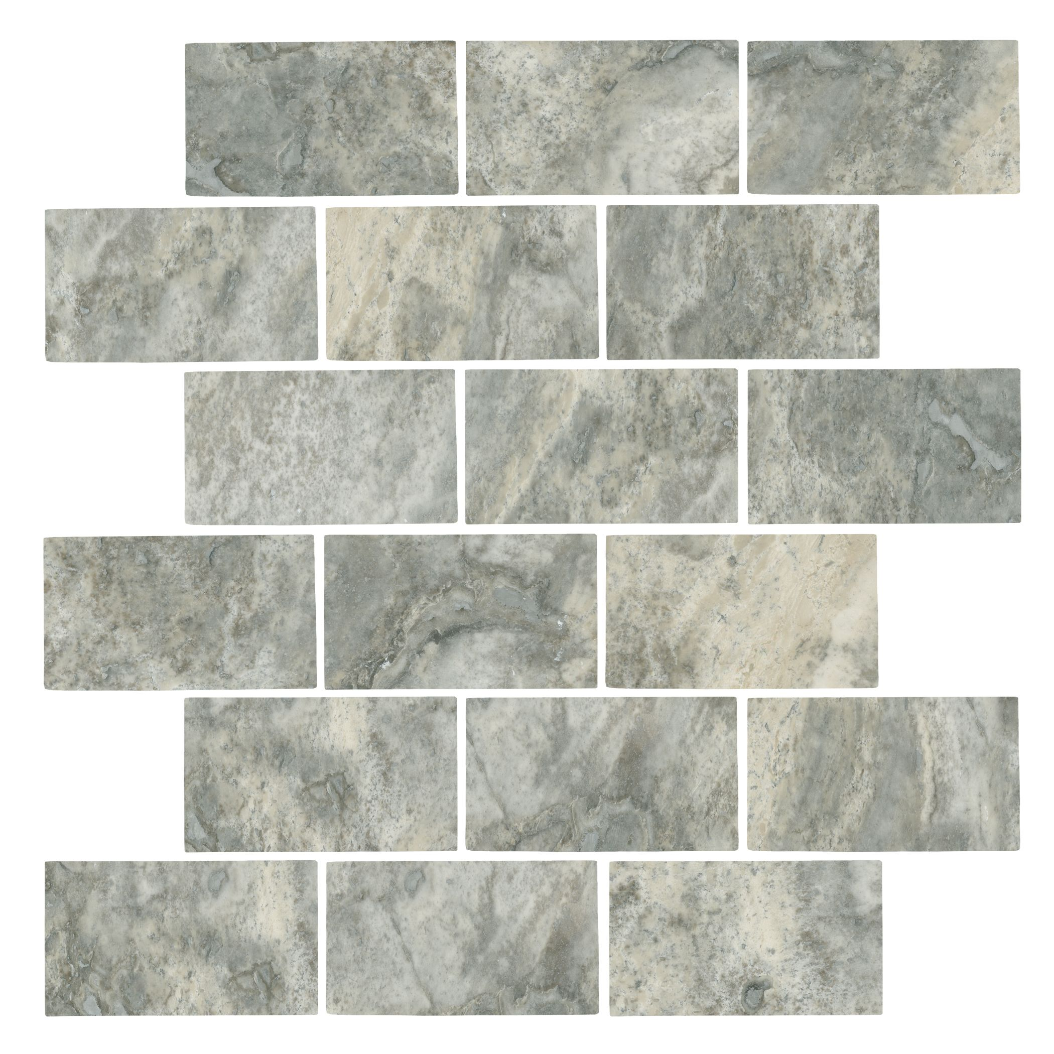 - Claros Silver Honed Amalfi 12 X 12 - Backsplash Tile Floor, The Tile  Shop, Travertine Mosaic Tiles