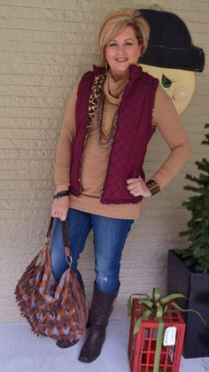 Great winter outfit for women over 40 (or 50!) #Over50fashionstyle