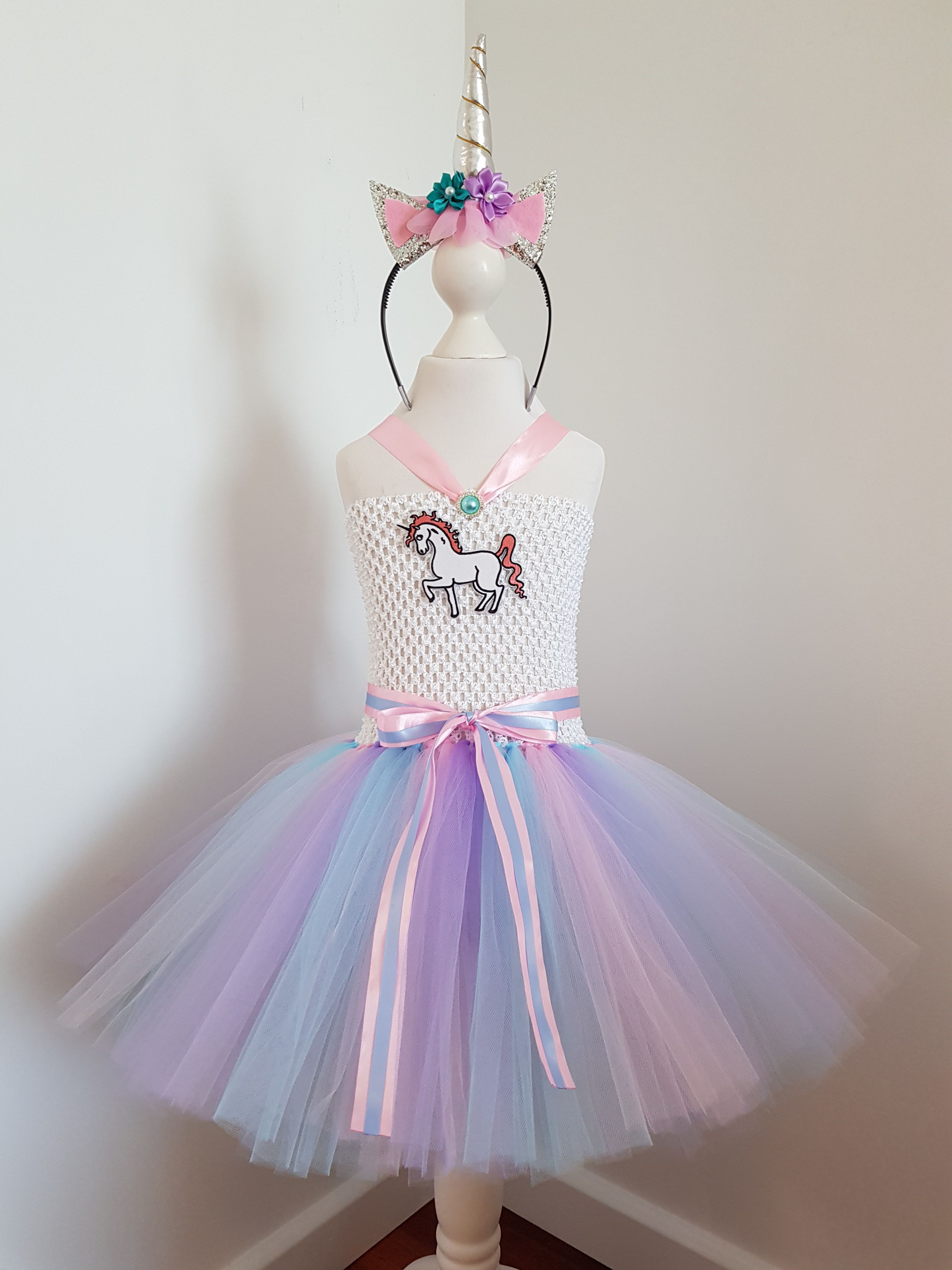 ef4563960 Unicorn Tutu Dress 2 to 5 year old