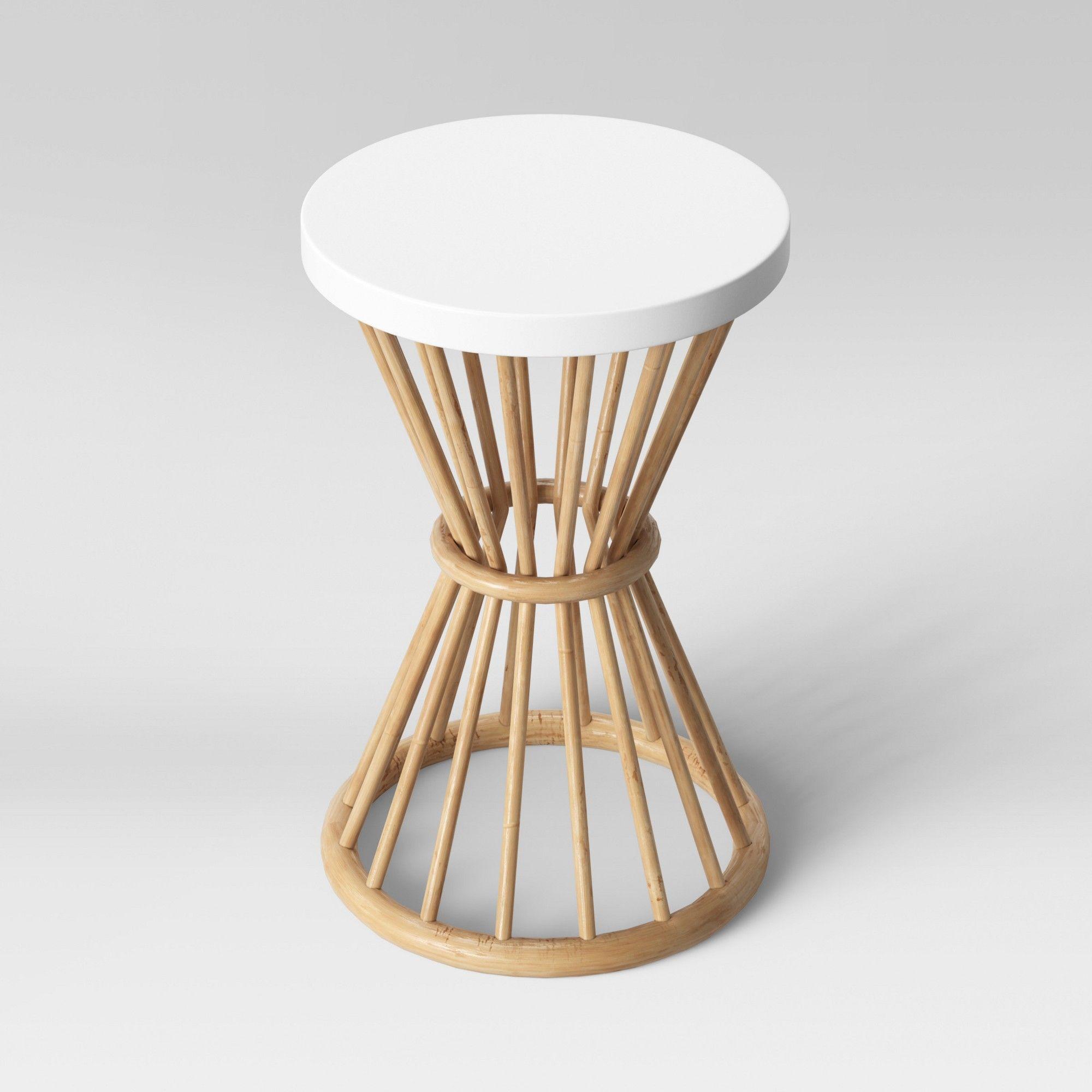 Aloysia Rattan End Table White Opalhouse End Tables Opalhouse Target Home Decor [ 2000 x 2000 Pixel ]