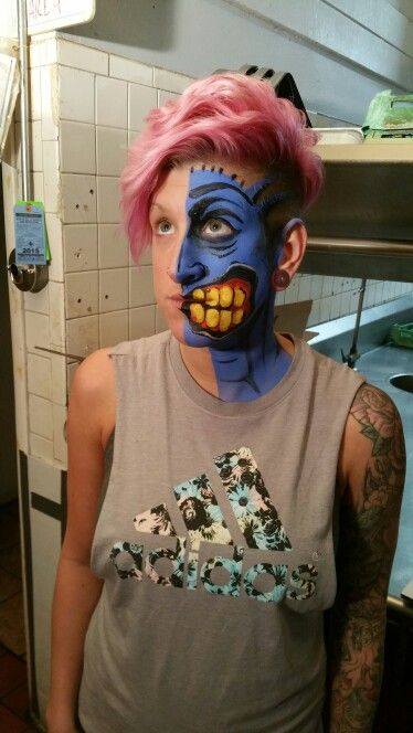 Female two face