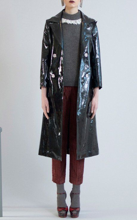 Supersize Corduroy Slim Pantalone by Isa Arfen for Preorder on Moda Operandi