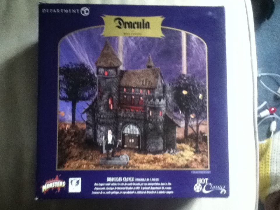Department 56 Dracula's Castle with Bela Lugosi