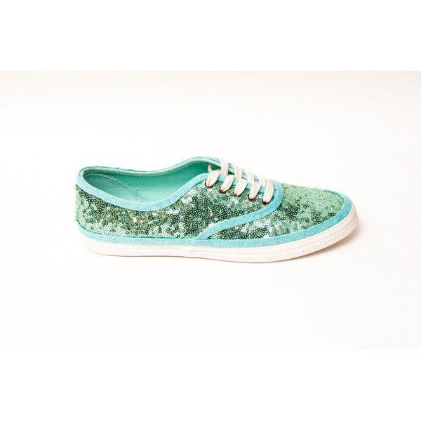 199c87ed4c761 Tiny Sequin Starlight Cvo Mint Green Canvas Sneaker Tennis Plimsoll ...