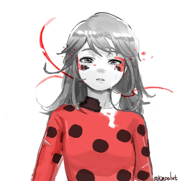 Even her hair is losing its perkiness... (Miraculous ladybug, sad)
