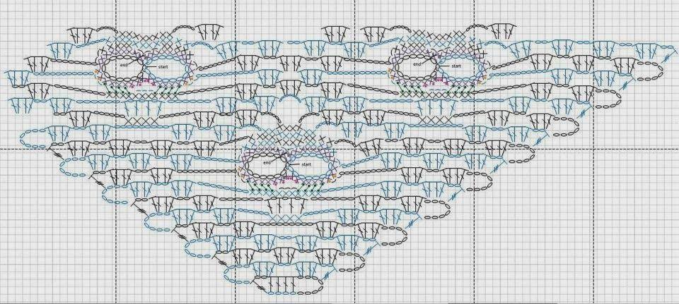 Crochê Tricô - Gráficos: Caveiras em Crochê