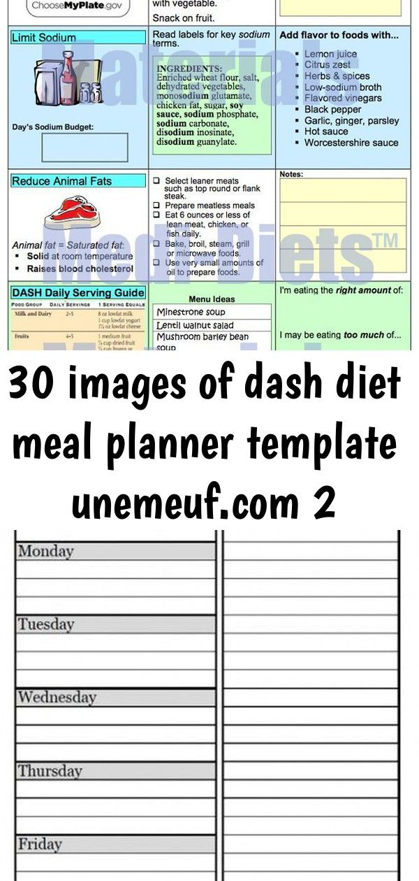 30 images of dash diet meal planner template 2 30 Images of Dash Diet Meal Planner Template unemeufcom  Entertainment 40 Trendy Fitness Planner Printable Free Grocery Lis...