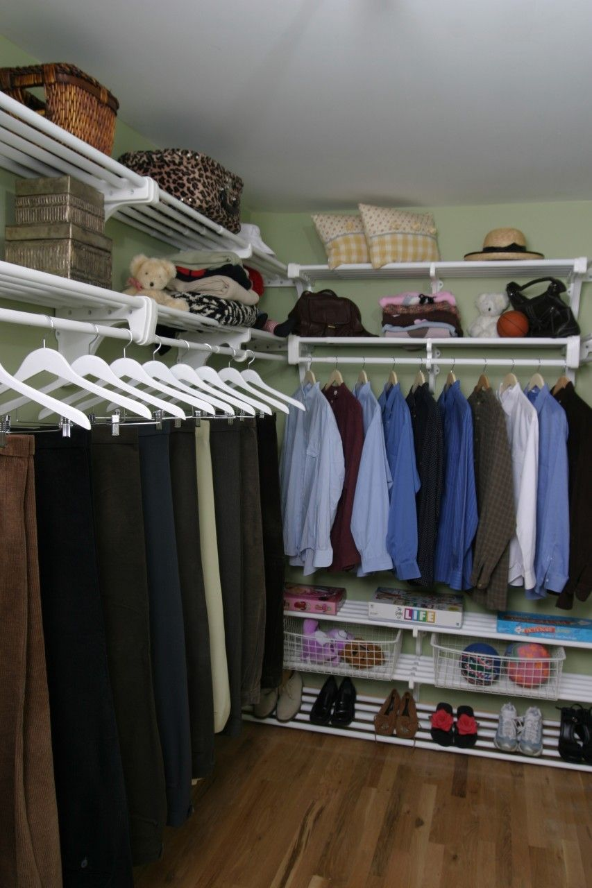 DIY Walk In Closet Organizer Made From Five Expandable Closet Shelves From  Ez Shelf