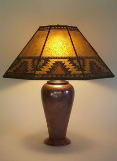 Southwest Table Lamps Copper Table Lamp Southwestern Design