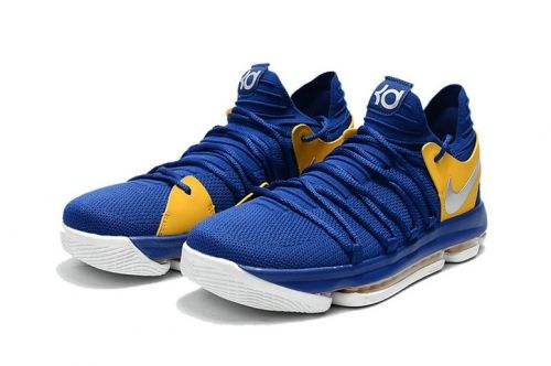2b5449f52a79 2018 Factory Authentic Shoes 2017 KD 10 X Golden States Warriors Colors