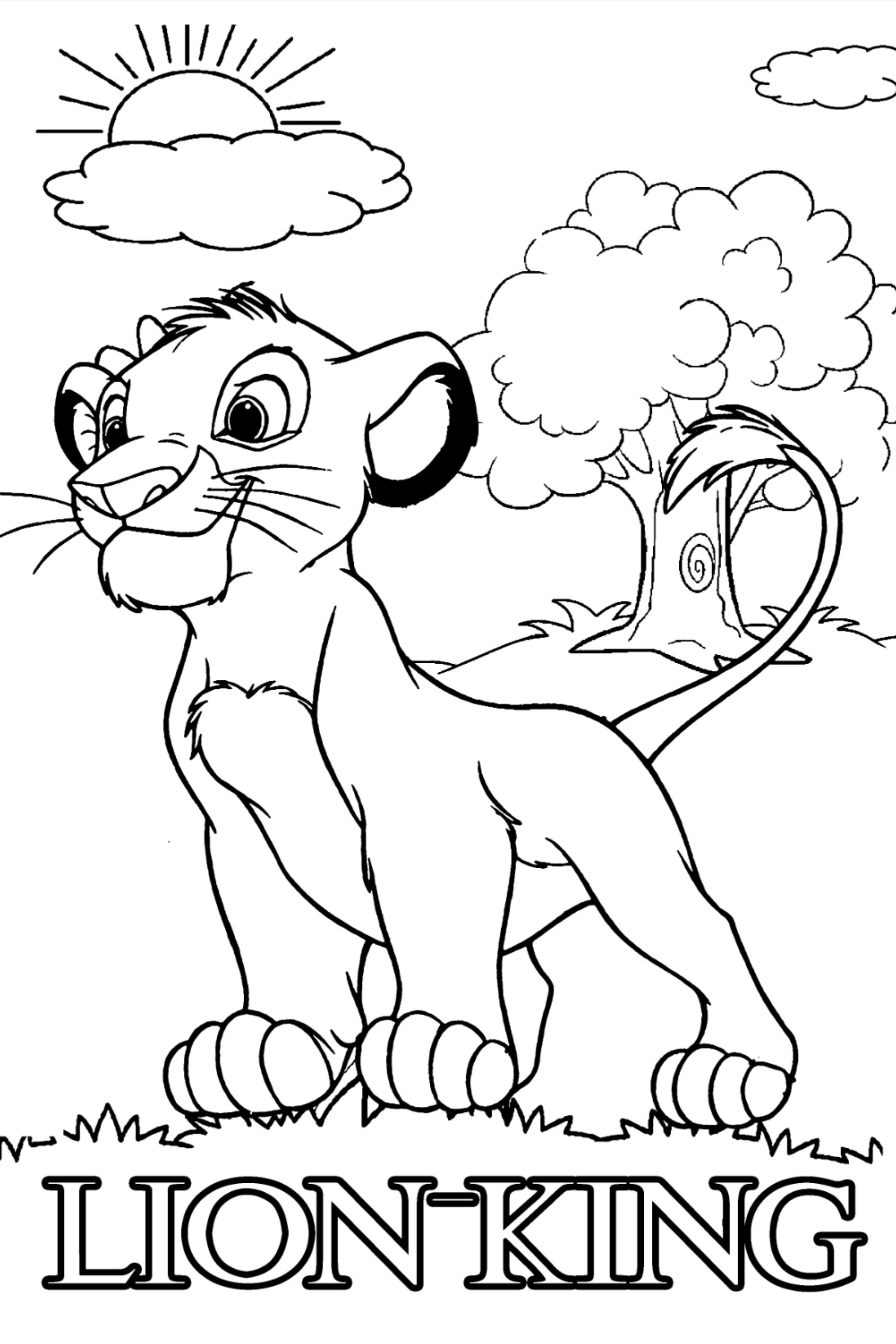 50 Lion King Coloring Pages For Kids Lion Coloring Pages King Coloring Book Cartoon Lion