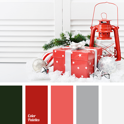 Christmas palette color matching colors of new year fir for Christmas tree color schemes