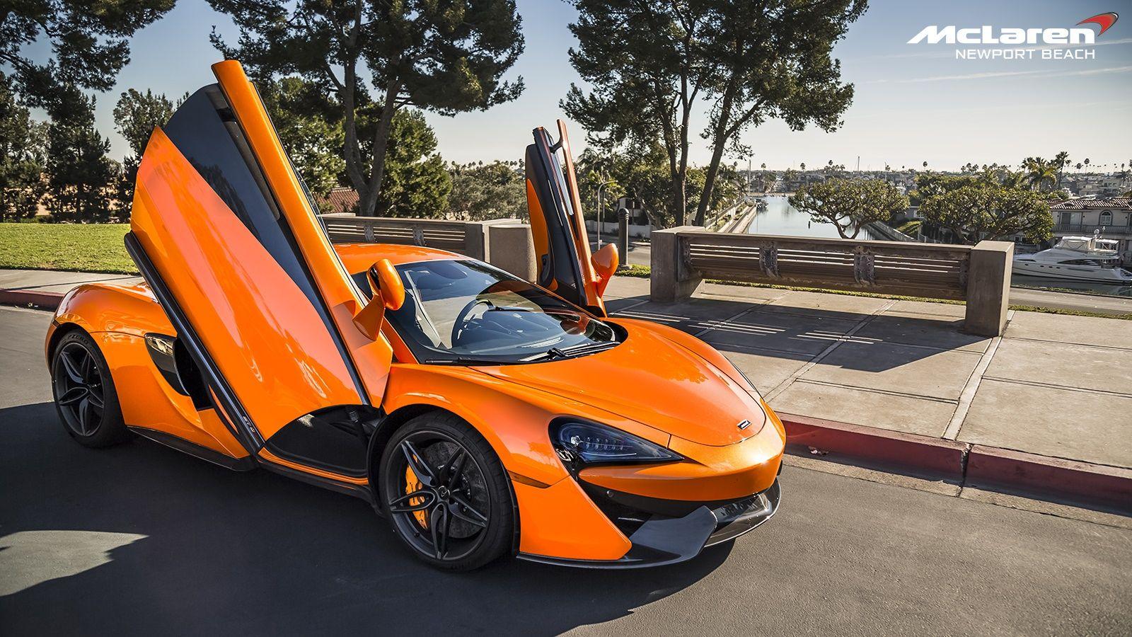 Orange Mclaren 570s In Newport Beach Front Side Angle Image Gallery Mclaren 570s Mclaren High End Cars