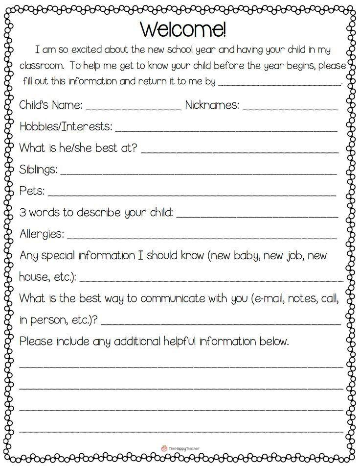Questionnaire kid stuff Pinterest School, Teacher and Parents - demographic survey template