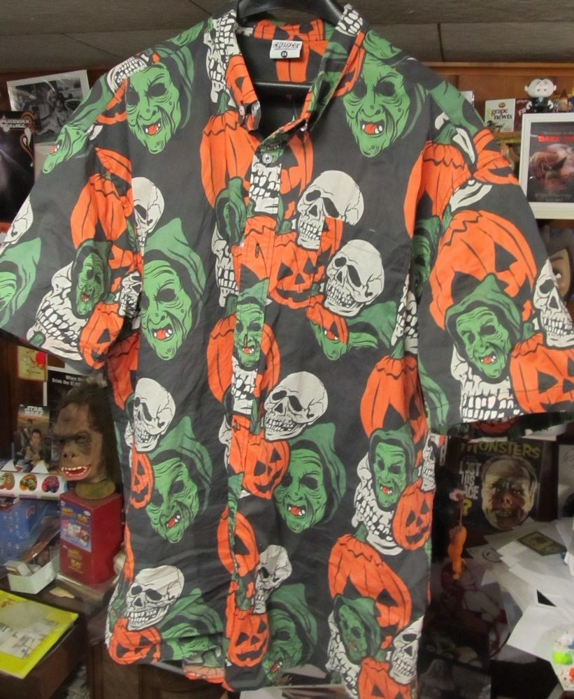 halloween 3 season of the witch 3xl button up shirt creepy co don post masks