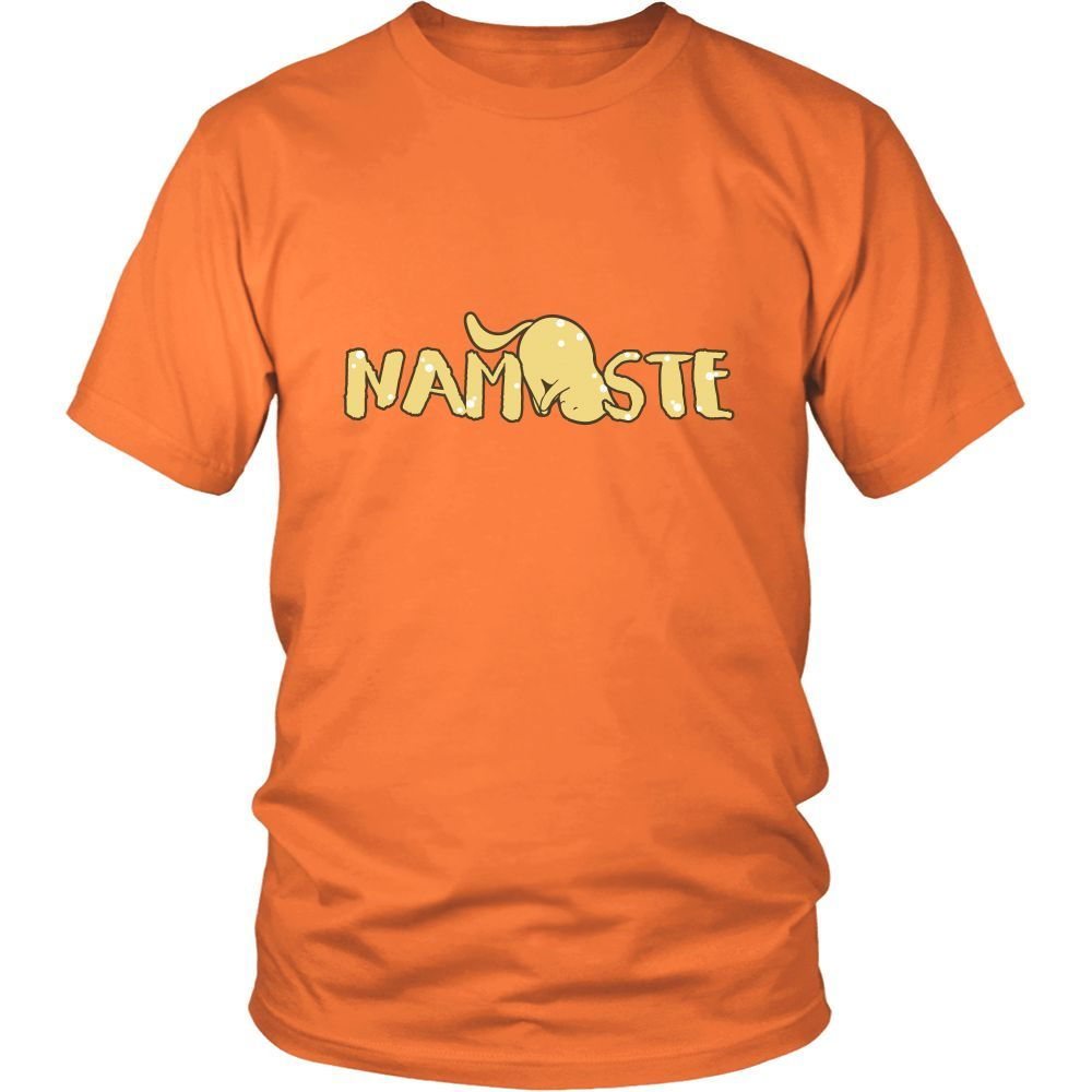 Namaste Downward Unisex Cat T-Shirt