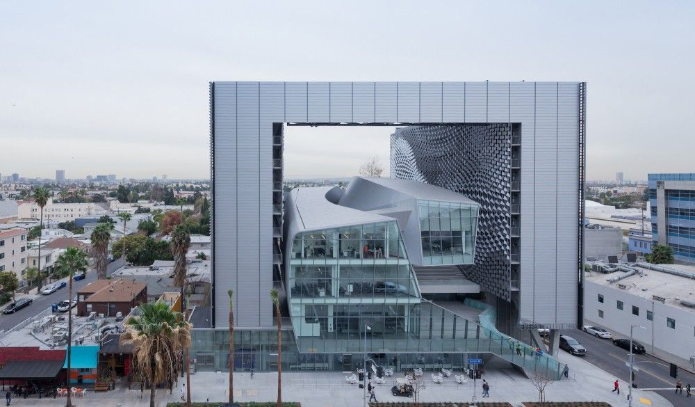 Architecture Photography Los Angeles morphosis employs fiber-reinforced facade for kolon headquarters