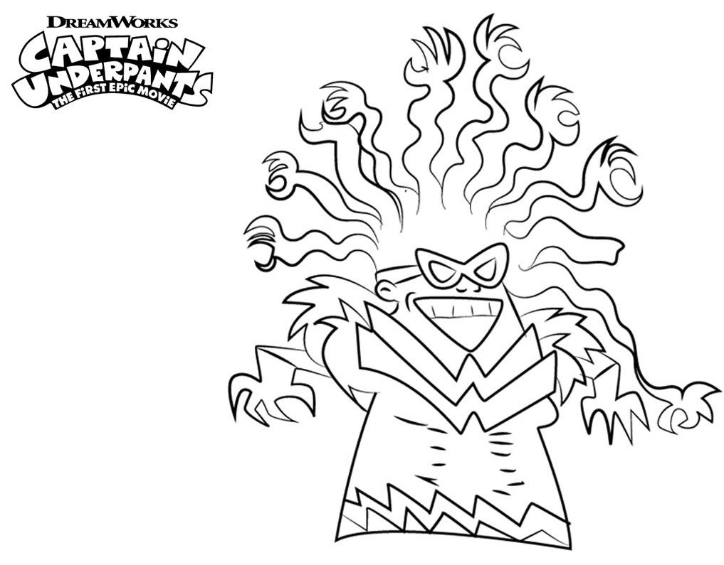 Captain Underpants Coloring Pages Coloring Pages Monster
