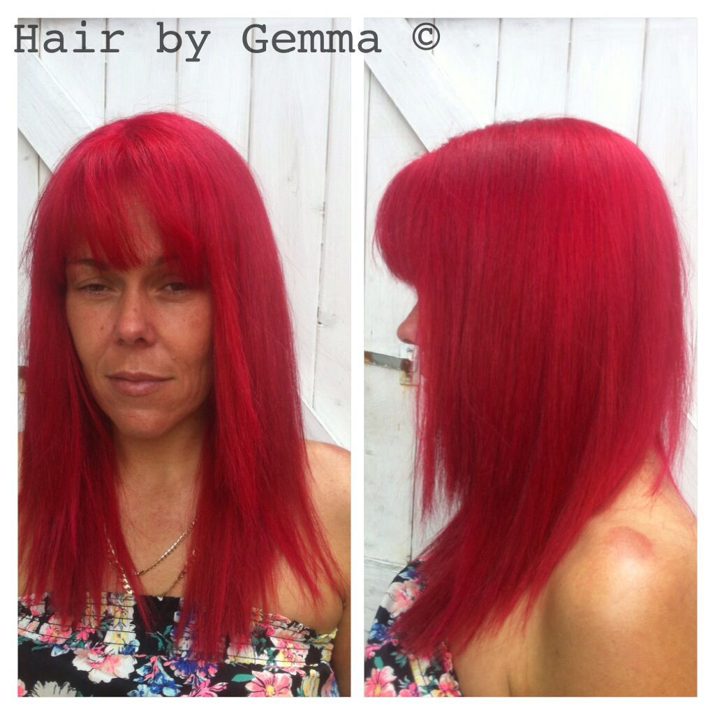 Red Hair Bright Red Hair Directions Rihanna Red Pillarbox Red