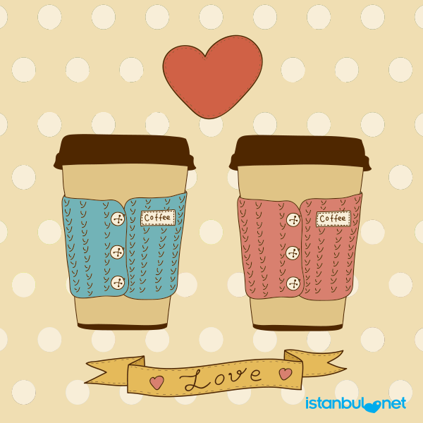 Kahve acı olsa da sevgi kadar tatlı olmaktadır