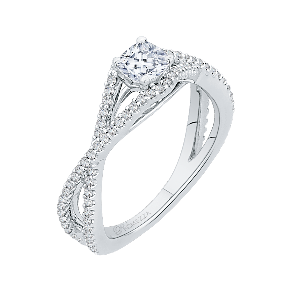 Stunning crisscross pave diamond engagement ring for a
