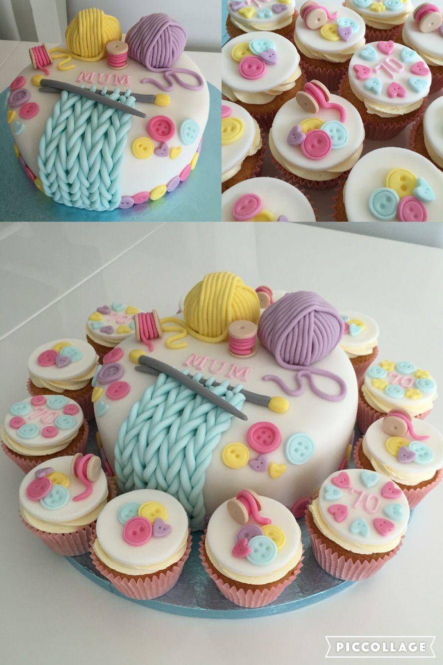 Knitting Theme Birthday Cake 90th Birthday Pinterest Cake
