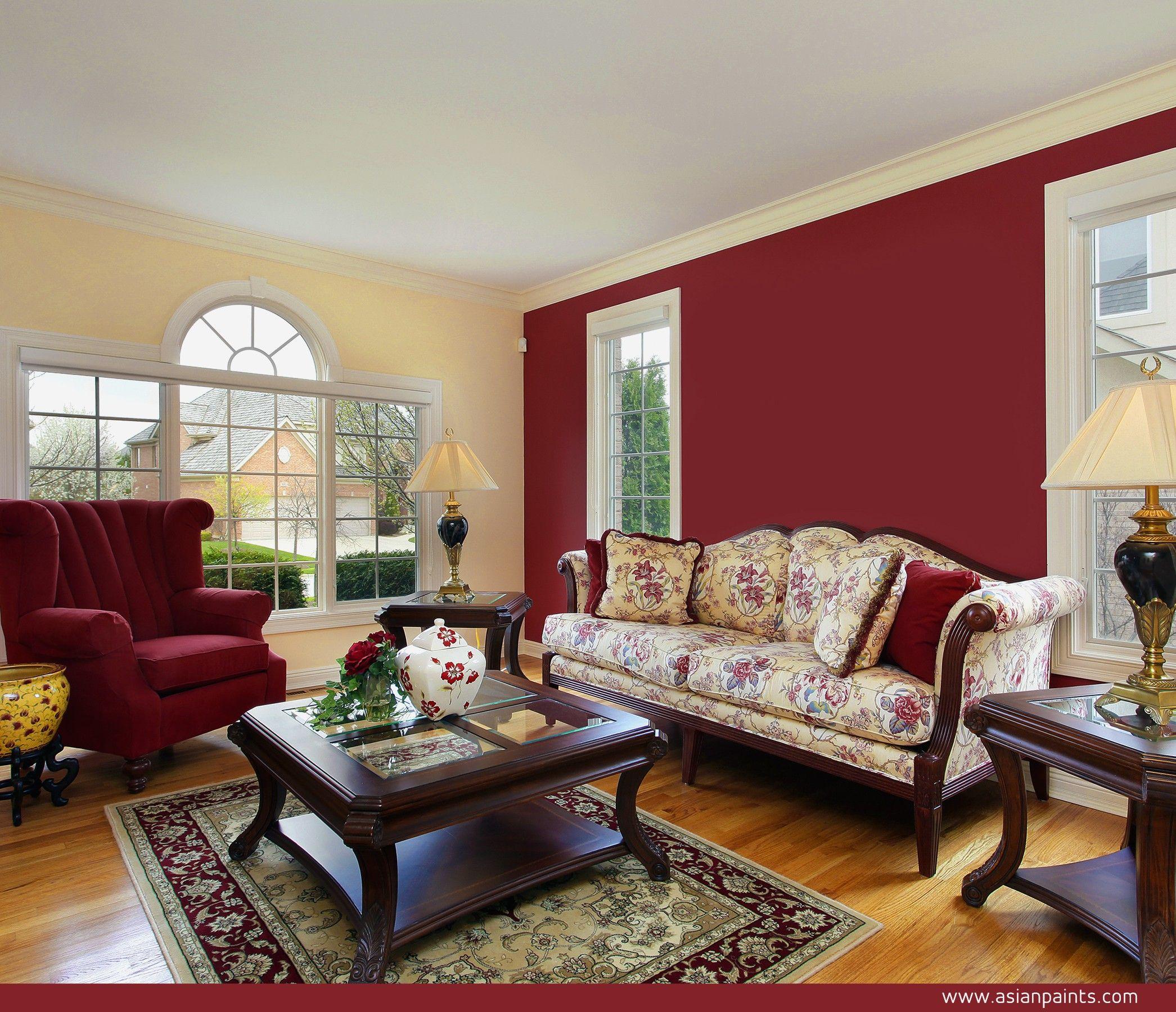 Red Color Combination Interior Design