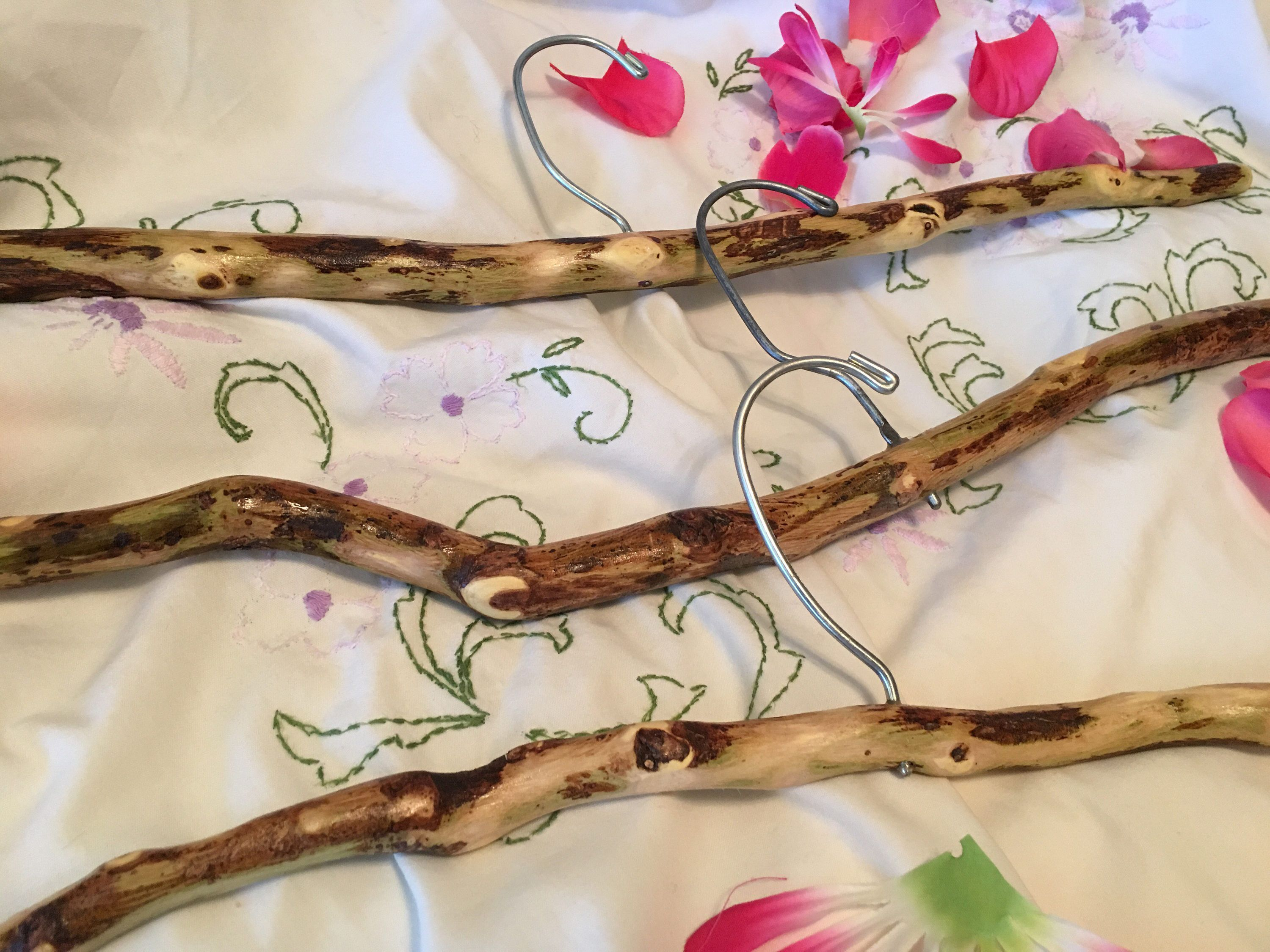 3 Decorative Mesquite Wood Tree Branch Clothes Coat Hangers for ...