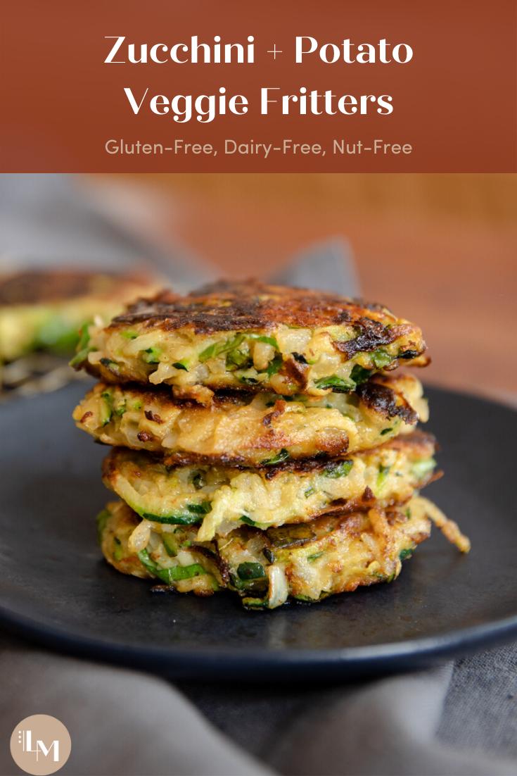 Easy Zucchini + Potato Veggie Fritters (Gluten-Fre
