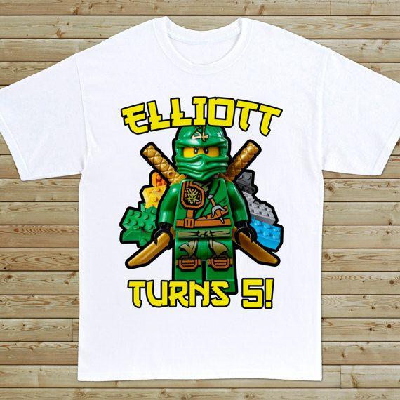 ninjago custom birthday tshirt  birthday fashion custom