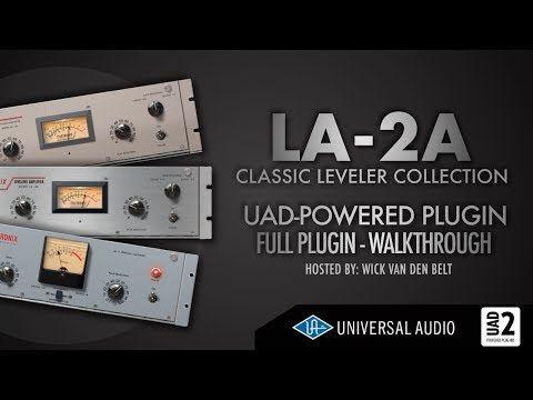 UAD - LA2A Leveler Plugin Collection explained (Full Walkthrough