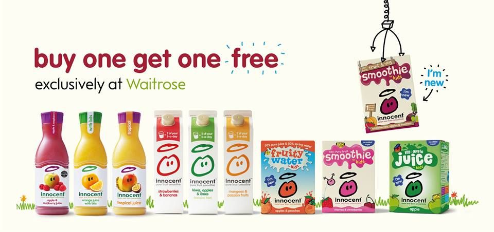 REALLY GOOD DEAL ALERT: all of these drinks are buy one get one free in Waitrose until mid-September. Go forth, fill your fridges, and bask in the kind of glory that only a fruit based beverage bargain can evoke.