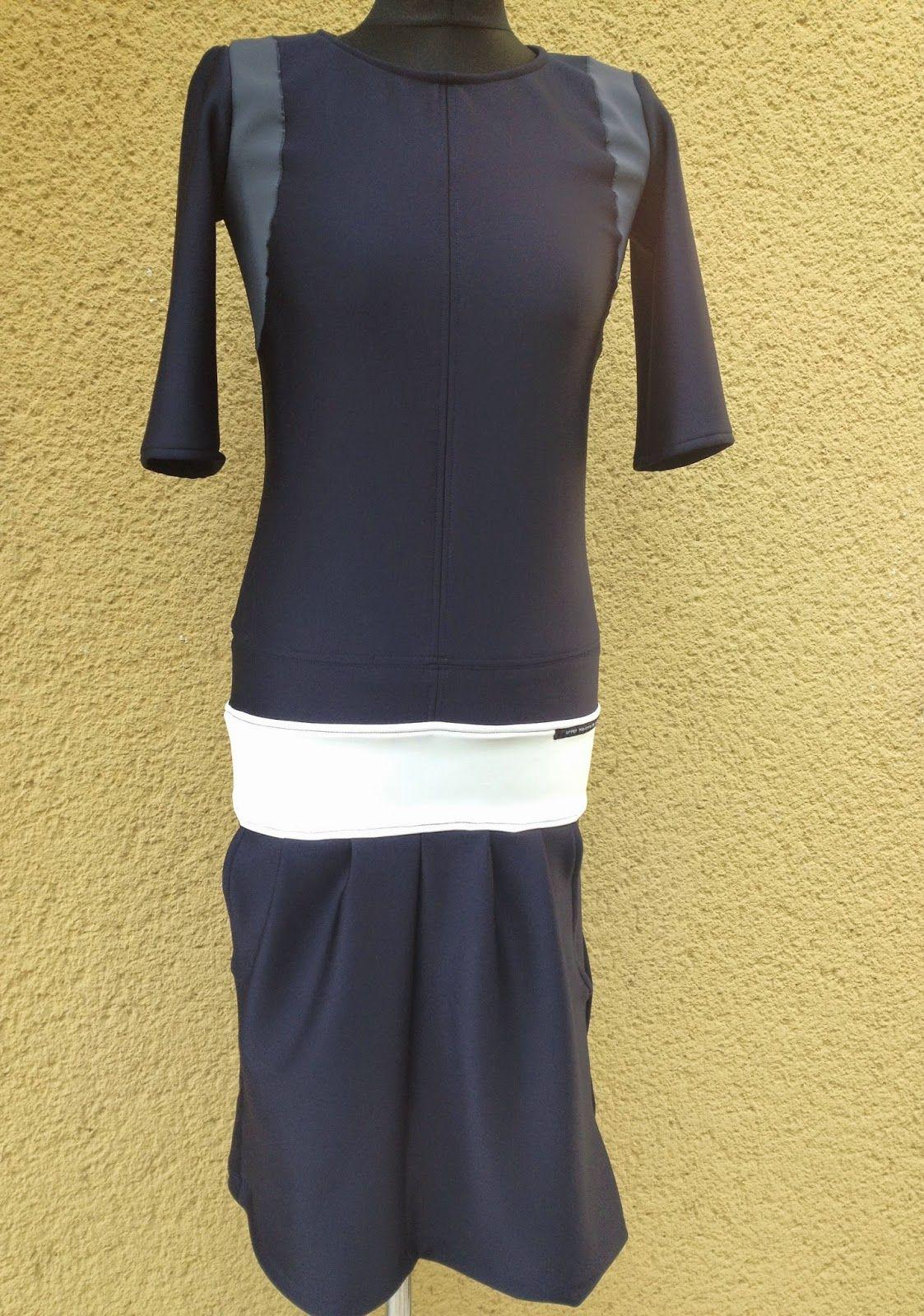 upper palatinate rocks: WOMEN 2014 dress scuba jersey blue and white