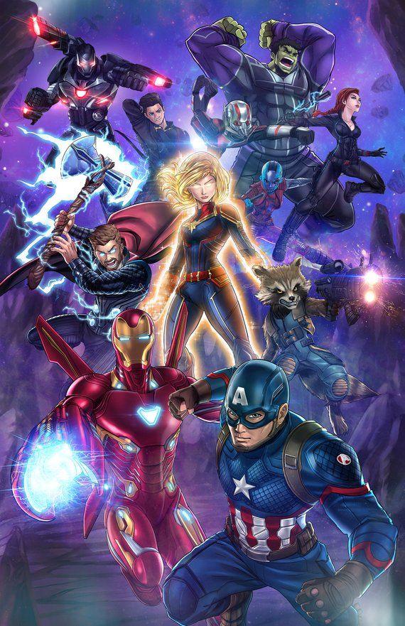 Avengers Endgame Anime Marvel avengers comics, Avengers