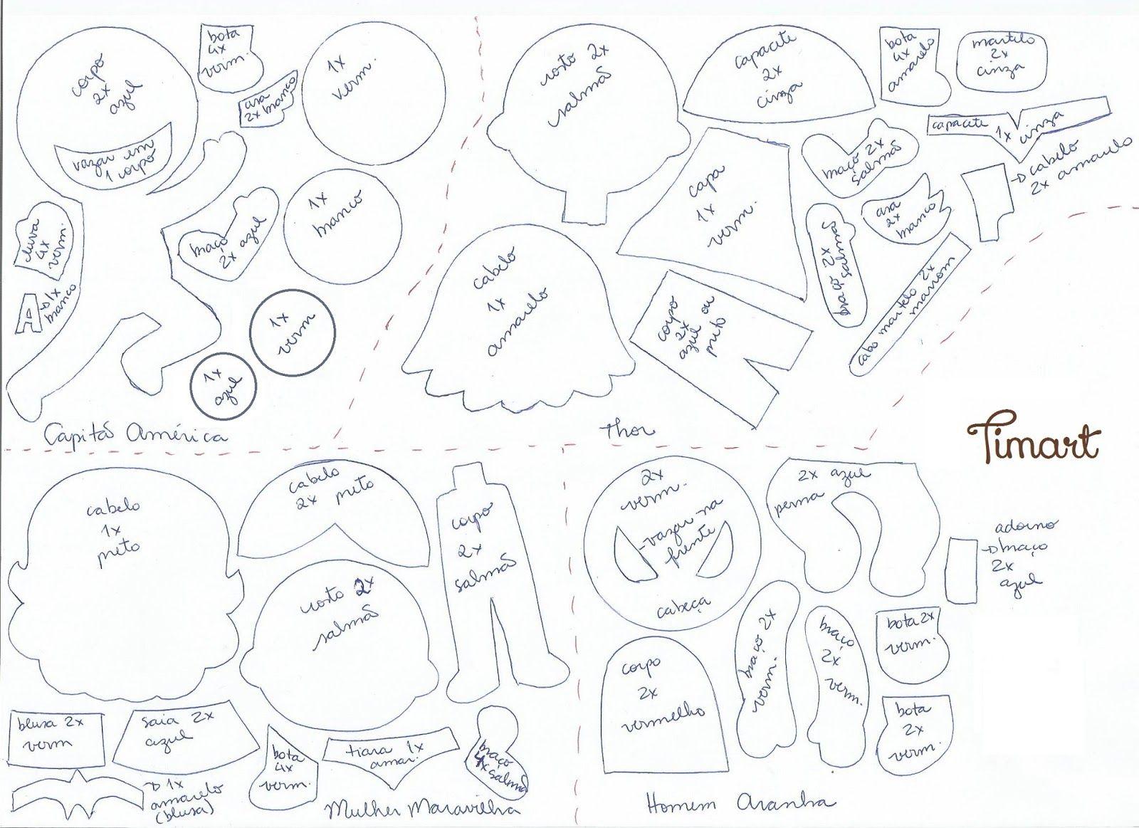 Função Do Aparador Na Sala ~ Feltro Fácil Heróis em Feltro Feltro Pinterest Artesanato, Feltro and Molde