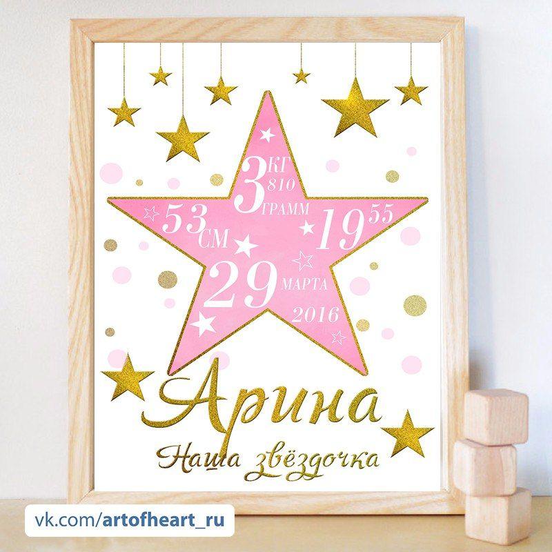 Метрика для новорожденных постер своими руками фото 63