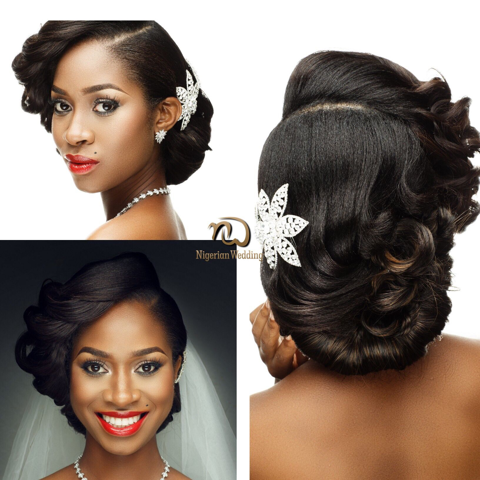 nigerian wedding presents gorgeous bridal hair & makeup inspiration