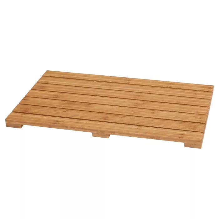 Ecostyle Home Bath Mat Light Brown Bamboo Eco Styles Bamboo