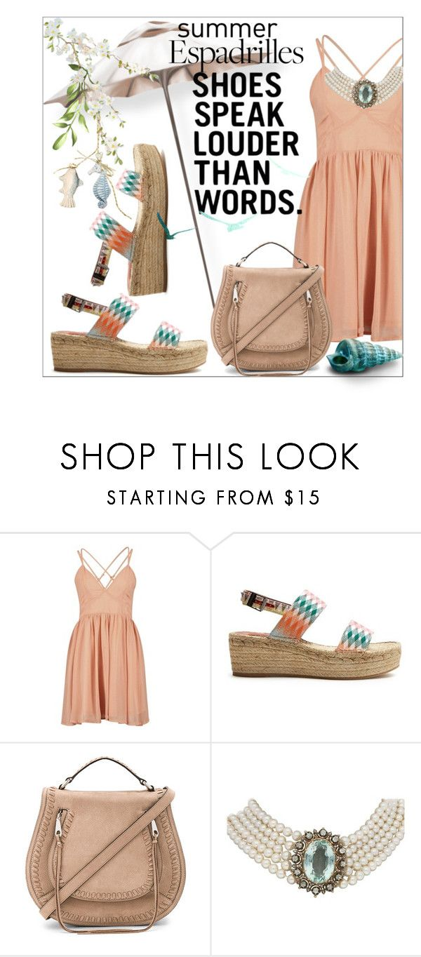 """Step into Summer: Espadrilles"" by stylematters61 ❤ liked on Polyvore featuring Missoni Mare and Rebecca Minkoff"