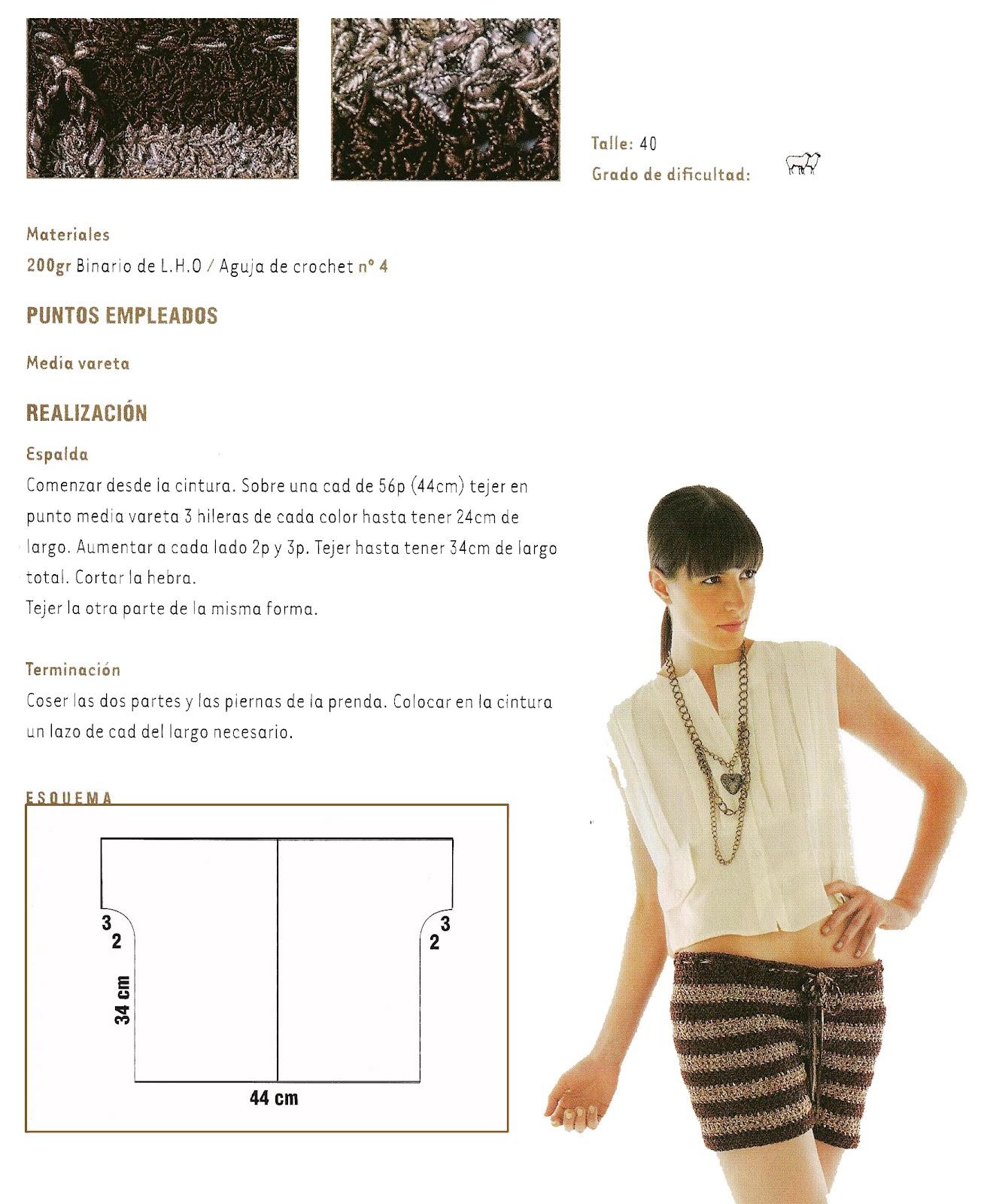 Mini Short de Crochet invierno patron - Patrones Crochet | costura ...