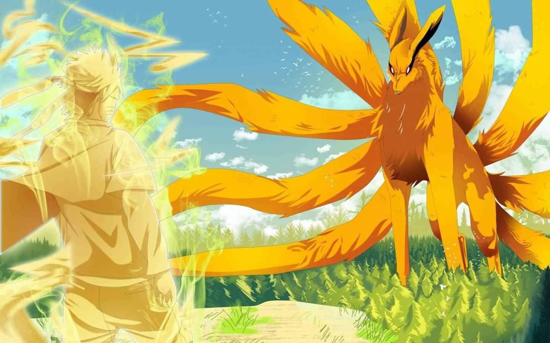 Naruto and kurama anime illustrations pinterest naruto