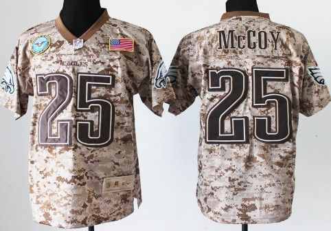 hot sale online c9b4a 27664 Nike Philadelphia Eagles #25 LeSean McCoy 2013 USMC Camo ...