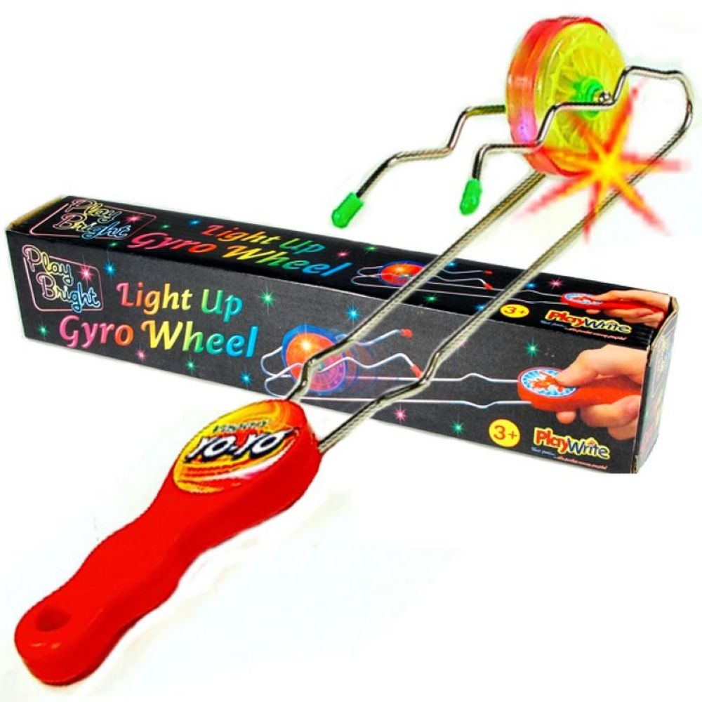 Magnetic Twister Toy Light Up Gyro Wheel Magnetic Kinetic Wheel Science Rail
