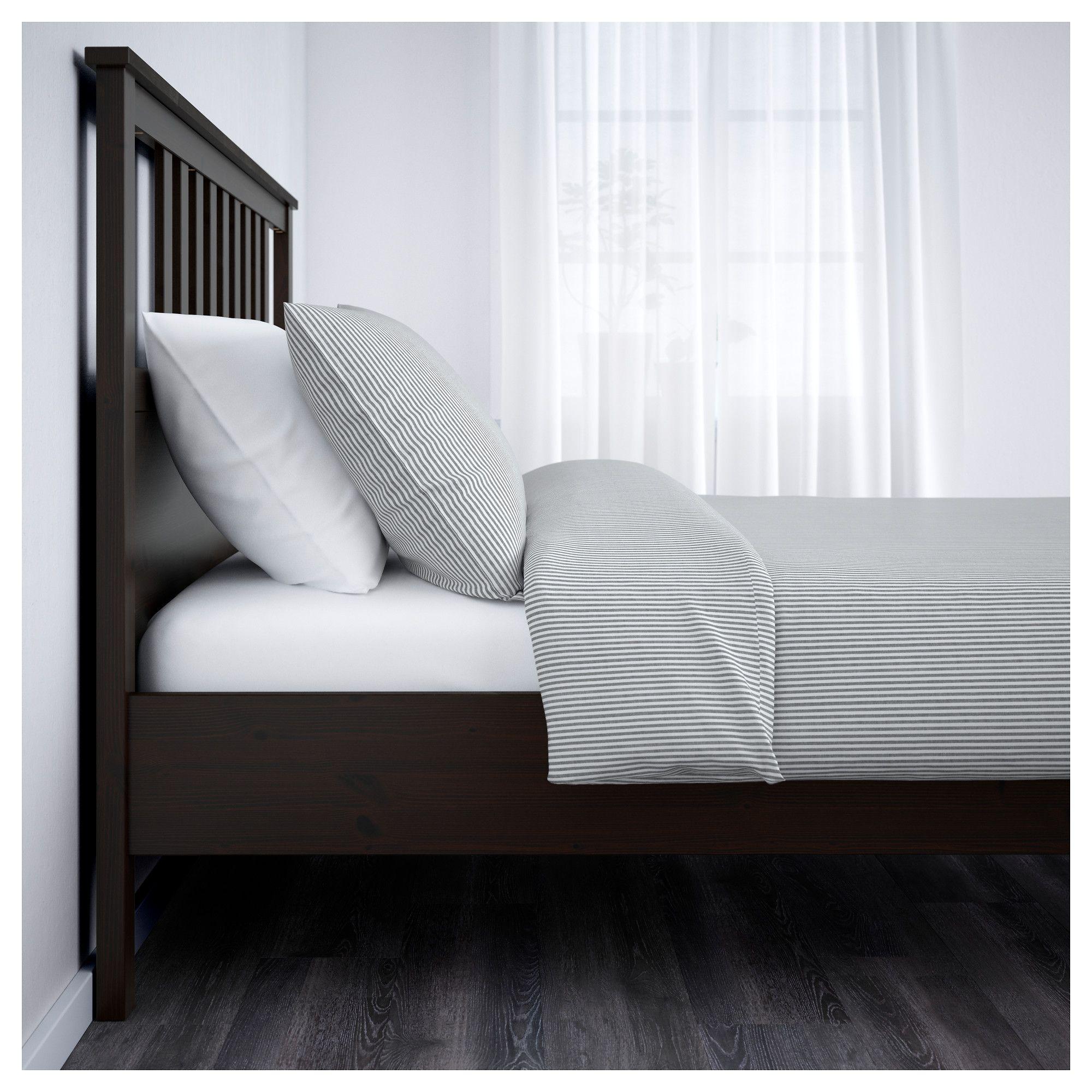HEMNES Bed frame blackbrown, Leirsund Hemnes bed